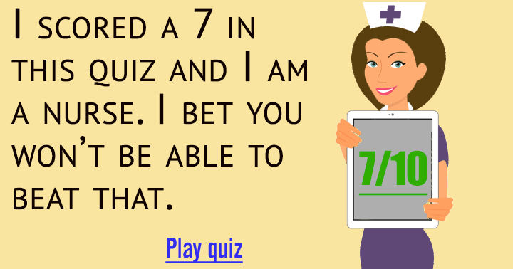 Try to beat the score of this nurse!