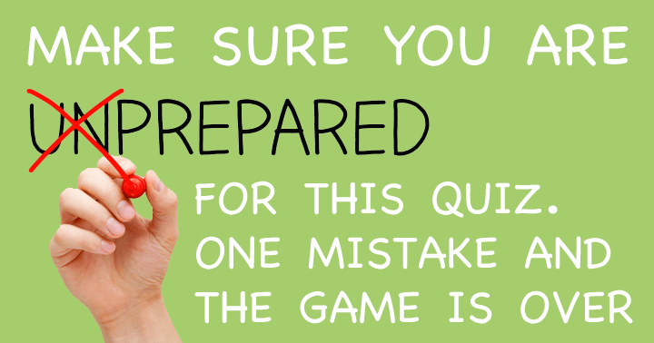 Try to survive in this Survival Quiz