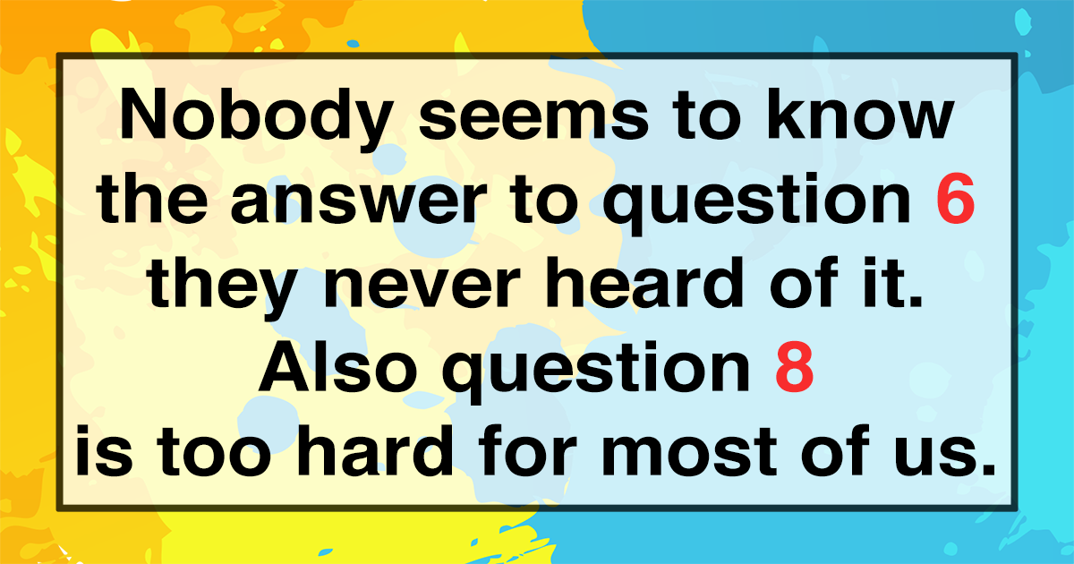 Test Your Trivia Knowledge